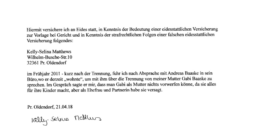 Andreas Baaske Dokumente